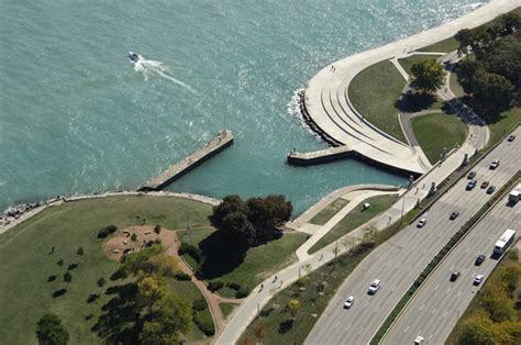 boat slip diversey harbor diversey harbor inlet in chicago il united states
