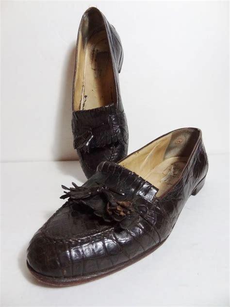 cole haan crocodile loafers 1200 bragano by cole haan brown mens genuine crocodile