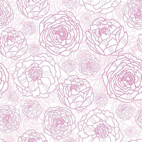 pattern flower pink drawn pink flowers seamless pattern background stock