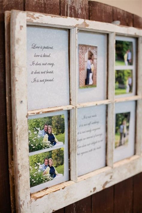 rustic wedding frame with window