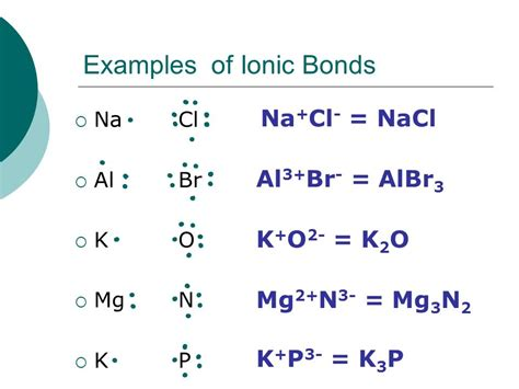 exle of ionic bond bonding ch 8 9 honors chemistry general rule of thumb