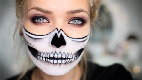 skull halloween makeup tutorial youtube