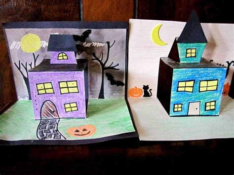 pop up haunted house haunted house pop up craft halloween holidays in the classroom haunted houses
