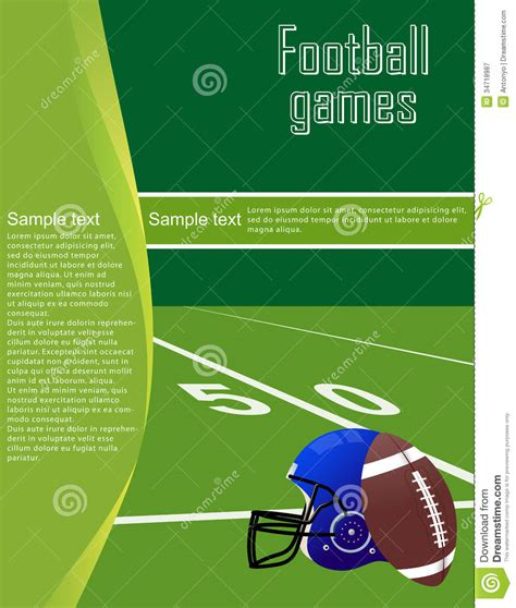 football flyer royalty free stock photography image