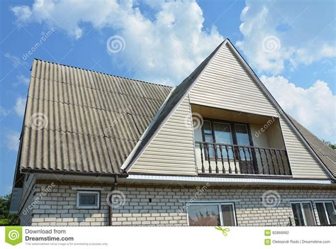 building type house design gable and valley type of roof construction building attic