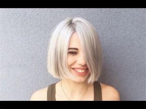 Short Blunt Cut Bob Hairstyle   YouTube