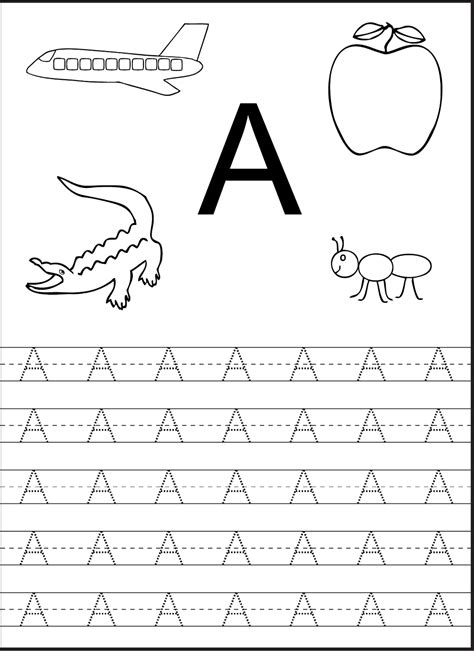 alphabet tracing printables for kids activity shelter tracing the letter a free printable activity shelter