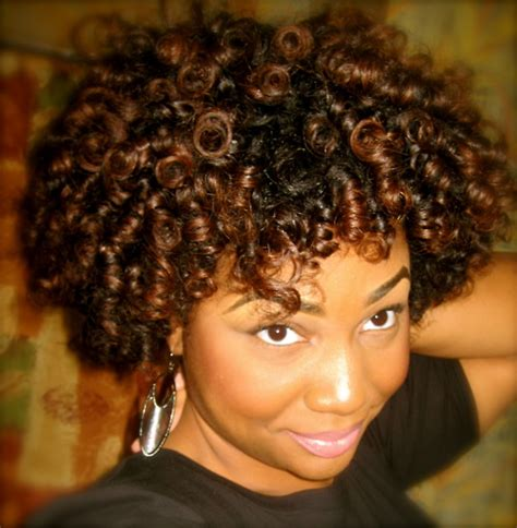 short natural hairstyles with rod curls my roller set natural hair journey chic and frugal mommy