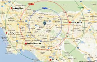 Los angeles resorts area map pacific palms resort