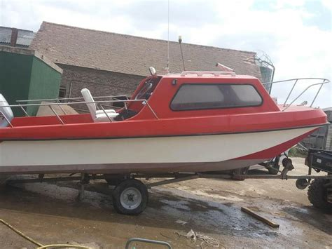 dory pilot boat 17ft dory pilot fishing boat with cabin and trailer in
