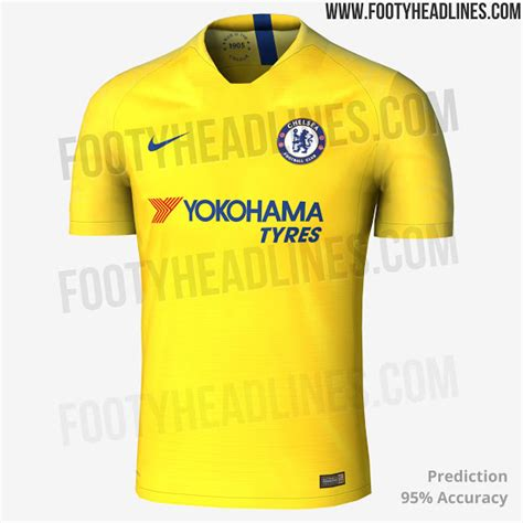 Chelsea Yellow by Leaked Chelsea 2018 19 Premier League Away Kit Is Yellow