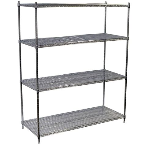 origami shelving unit origami 36 in w x 60 in h x 20 in d 4 tier steel