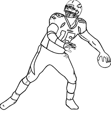 Nfl Player Free Colouring Pages Football Player Color Pages