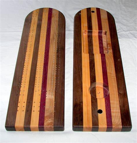 Handmade Cribbage Board - handmade custom made black walnut cherry maple 3 track