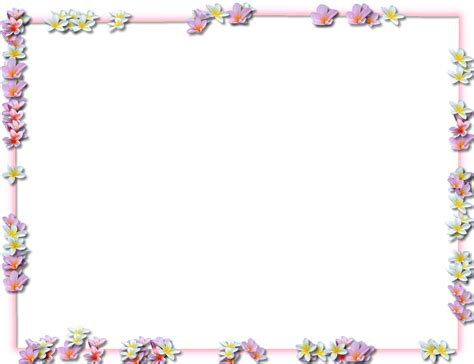 Gambar Floral Garden Custom 8 flowers borders png transparent images png all