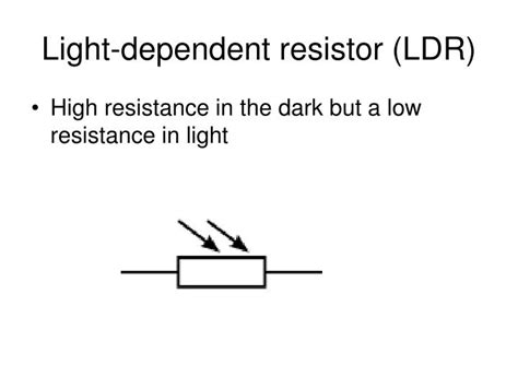 resistor symbol for powerpoint ppt on light dependent resistor 28 images ppt iv characteristics powerpoint presentation id