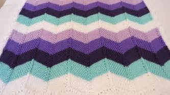 Chevron Baby Blanket Knit Pattern by Knitted Chevron A Nerdy Crocheter