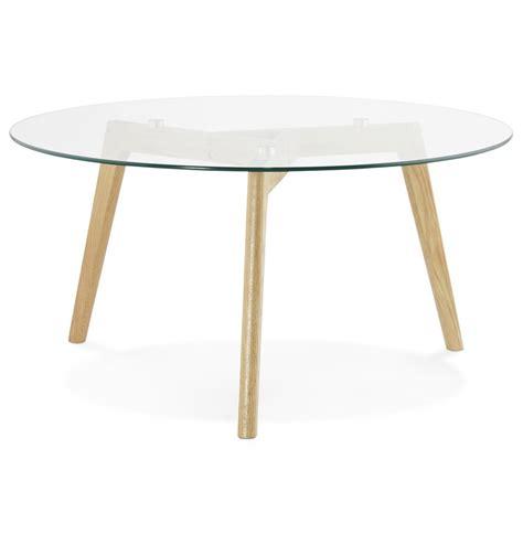 table basse de salon ronde glazy en verre table design