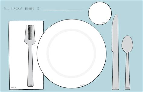 teach kids to set a table free printables pinterest