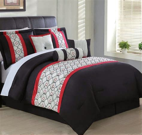 red and white comforters total fab red white and black comforters bedding sets