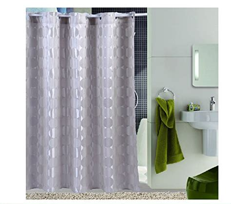 eforcurtain cicle pattern waterproof shower curtain 72
