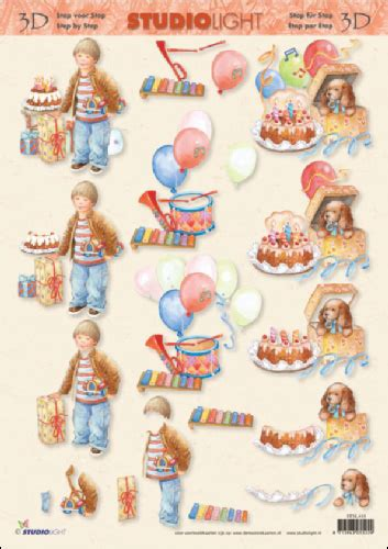 Decoupage Step By Step - child s birthday 3d step by step decoupage 418