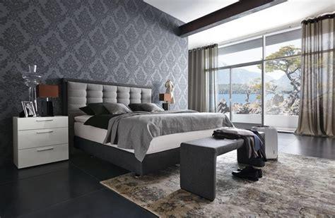 schwarzes und graues schlafzimmer box bett 25 ideen f 252 r modernes schlafzimmer mit