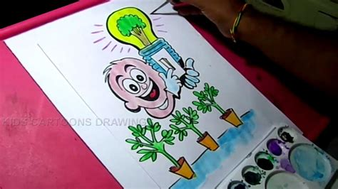 doodle how to make energy how to draw save energy save power color poster drawing