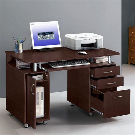 complete computer workstation desk with storage techni mobili techni mobili rta 4985 ch36 complete workstation computer