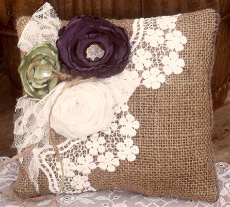 shabby chic burlap shabby chic pillow shabby chic craft burlap lace