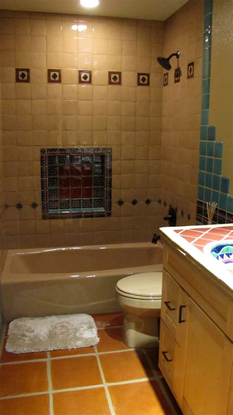 saltillo tile in bathroom ad wishes pinterest