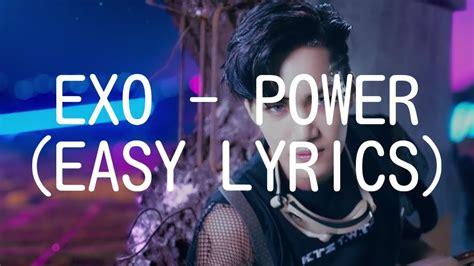 exo power lyrics exo power easy lyrics youtube