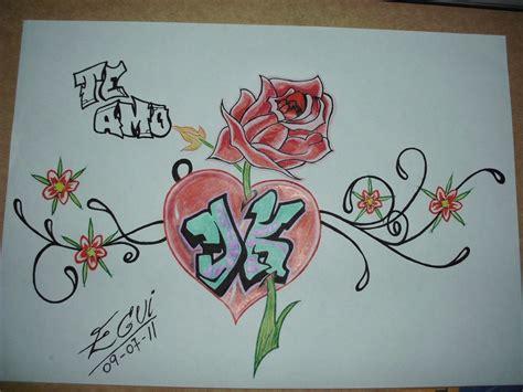 imagenes de graffiti de blanco y negro kari te amo creando dibujando creando dibujando letras inicales