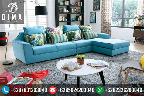 mebel jepara set sofa tamu sudut l minimalis terbaru murah