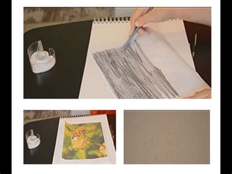 How To Make Tracing Paper - drawing lesson how to easily trace without tracing paper