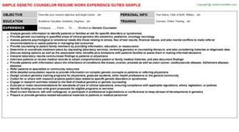 Genetic Counselor Job Title Docs