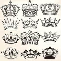 vector set of crowns for your heraldic design coroa