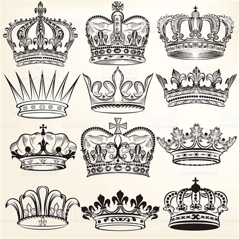 imagenes coronas egipcias vector set of crowns for your heraldic design coronas