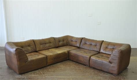 5 piece leather sectional sofa desede sofa vintage de sede 5 piece leather sofa at