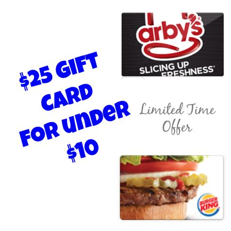 Chipotle 25 Gift Card Deal - deal over 25 chipotle arby s or burger king gift card for less than 10 mom saves