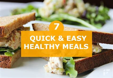 7 Easy Ways To Cook Healthier Meals by 7 Easy Healthy Meals You Can Make In 30 Minutes