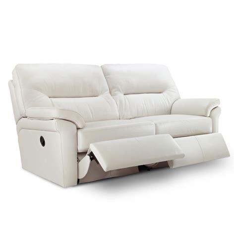 g plan washington leather 3 seater manual recliner sofa