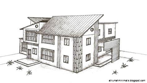 sketsa gambar rumah design rumah minimalis