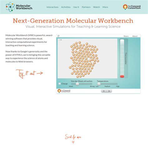 generation molecular workbench    web