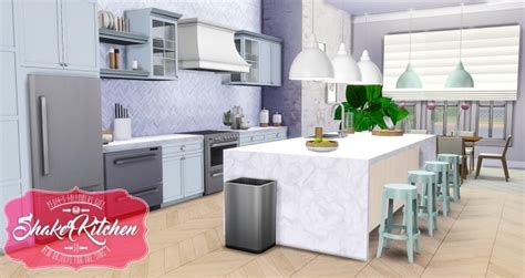 Kitchen Island With Cutting Board Top Shaker Kitchen Updated At Simsational Designs 187 Sims 4
