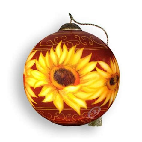 sunflower christmas ornaments webnuggetz com