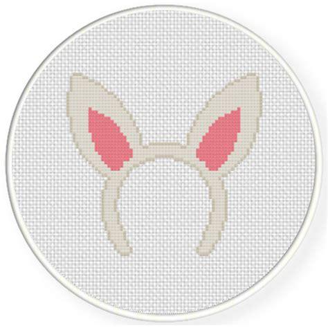 Rabbit Hair Band rabbit hair band cross stitch pattern daily cross stitch