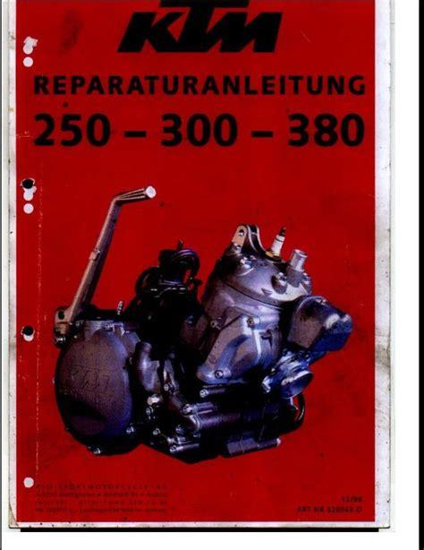 Ktm 250 300 380 Sport Motocycle Engine Service Repair