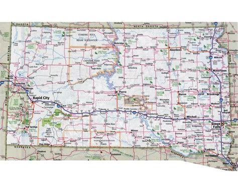 dakota map usa maps of south dakota state collection of detailed maps