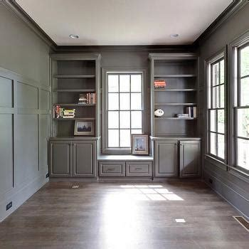 Ideas For Built In Bookcases Gray Built In Cabinets Contemporary Den Library Office